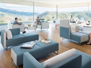 Sopha reception seating #modernoffice #fuzeinteriors