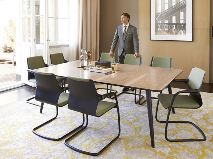 Allright cantilever chair #modernoffice #fuzeinteriors