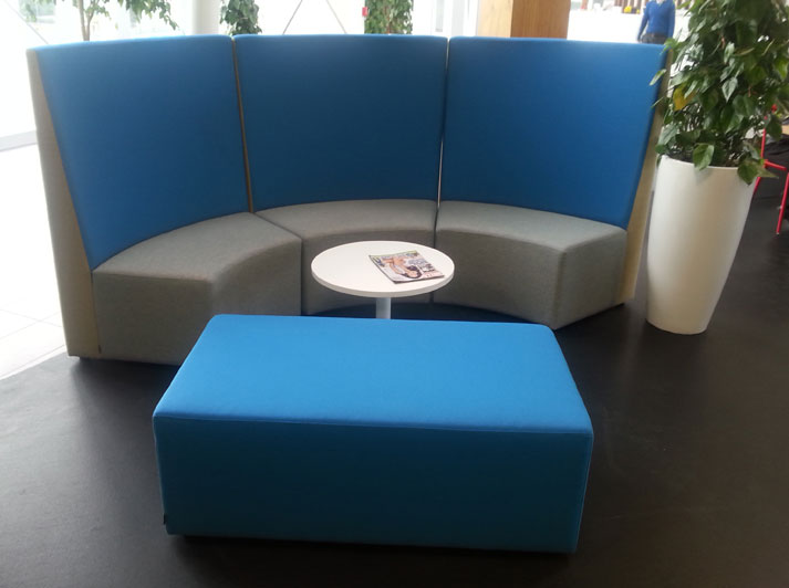 Eclipse reception seating #modernoffice #fuzeinteriors