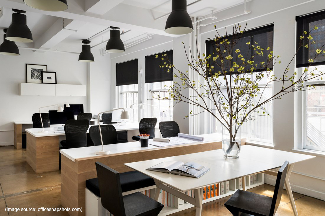 Black is the new black fuze business interiors for Commercial office space design ideas
